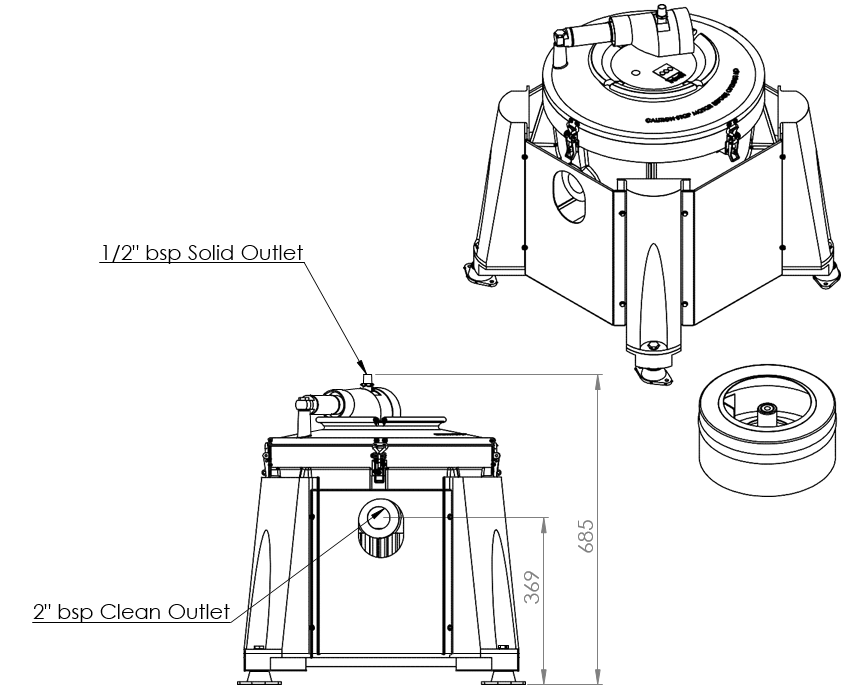 semi auto clean ic45-a centrifuge
