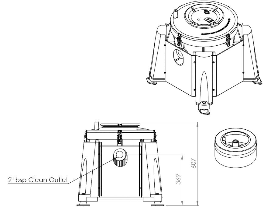 ic45 manual clean centrifuge